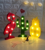 Flamingo Ananas Led Lamba Orta Boy