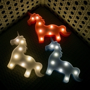 3 Boyutlu Pilli Unicorn Led Lamba